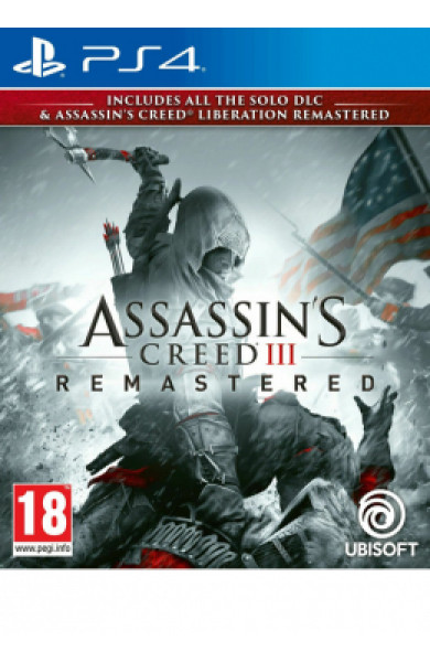 PS4 Assassin's Creed 3 Remastered & Liberation Remastered Disk