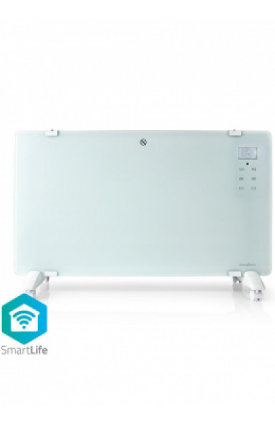Nedis Wi-Fi Smart Convection Heater Thermostat Glass Front Panel 2000 W White