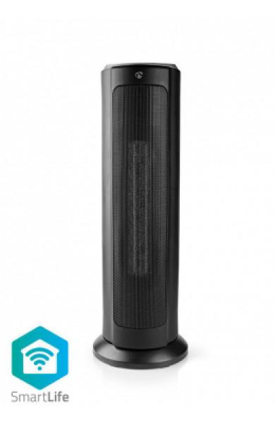 Nedis Wi-Fi Smart Tower Fan Heater Thermostat 1200 & 2000 W Black