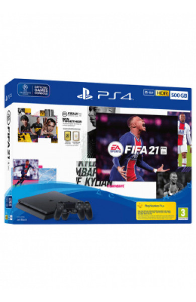 PlayStation PS4 500GB Slim + DS4 + FIFA 21