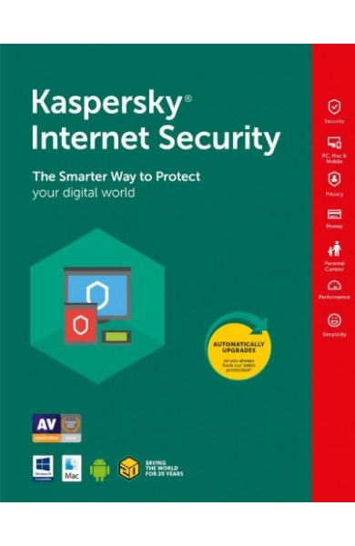 Kaspersky Internet Security (2020) - 1 year 1 PC