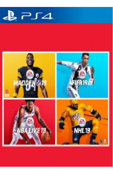 EA SPORTS 19 Bundle (FIFA 19,NBA LIVE 19,NHL 19,NFL19)