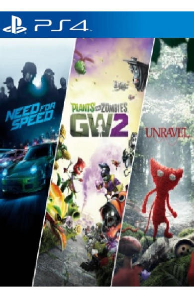 EA Family Bundle (Need For Speed+Unravel+Plants VS Zombies GW 2)