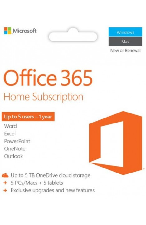 Office 365 Personal 5 Devices 1 Year Subscription