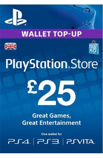25 GBP PSN Card (UK)