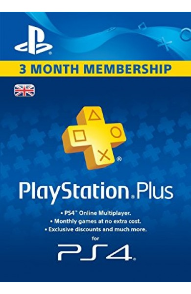 PS ( Playstation ) Plus 3 Months Membership (UK)