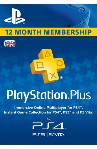 PS ( Playstation ) Plus 12 Months Membership (UK)