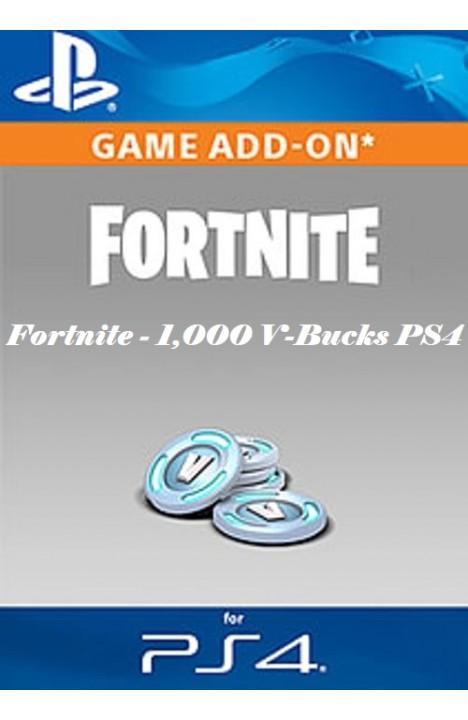 Fortnite - 1,000 V-Bucks PS4 UK Region Ključ