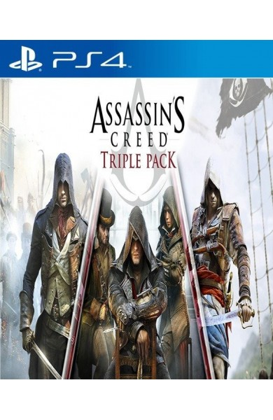 Assassins Creed Triple Pack: Black Flag, Unity, Syndicate