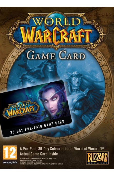 World of Warcraft 30 Day Pre-paid Game Card PC/Mac